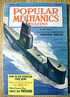 Popular Mechanics August 1953 Submarine Warfare