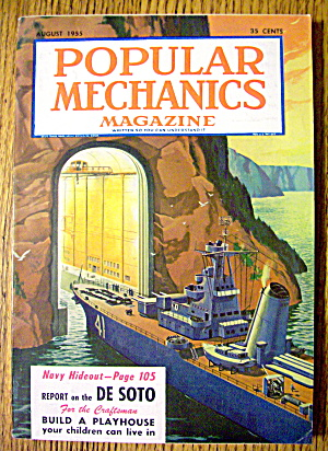 Popular Mechanics August 1955 Build A Playhouse