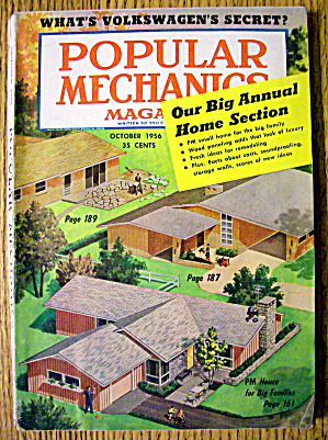 Popular Mechanics October 1956 Big Annual Home Section