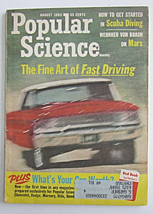 Popular Science August 1963 Fine Art Of Fast Driving  (Image1)