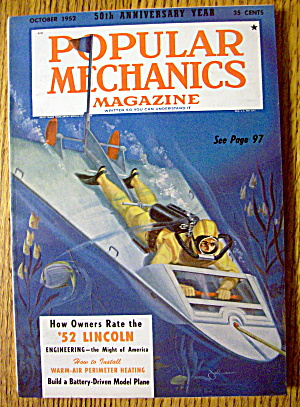 Popular Mechanics October 1952 Battery Model Plane (Image1)