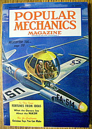 Popular Mechanics November 1953 Helicopter Tug