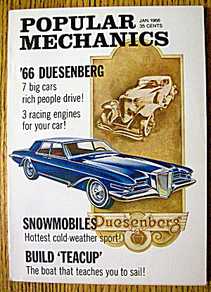 Popular Mechanics January 1966 Snowmobiles