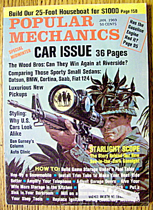 Popular Mechanics January 1969 Car Issue