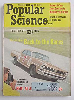 Popular Science Magazine February 1963 Back To The Race