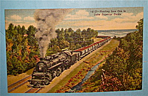 Hauling Iron Ore To Lake Superior Docks Postcard (Image1)