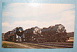 Modern N & W Steam Power Engines Postcard (Image1)