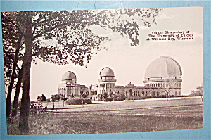 Yerkes Observatory Of The University/Chicago Postcard (Image1)