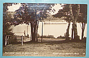 Portage Lake At Tourist Park Postcard (Image1)