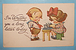I'm Writing You A Long Letter Today Postcard