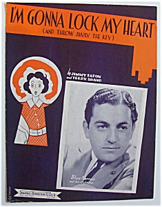 Sheet Music For 1938 I'm Gonna Lock My Heart