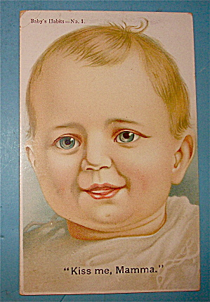 Baby Smiling With Blue Eyes Postcard