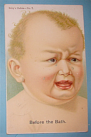 Little Baby Crying Postcard