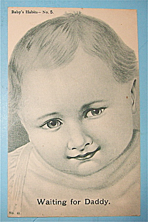Little Baby's Face Looking Postcard