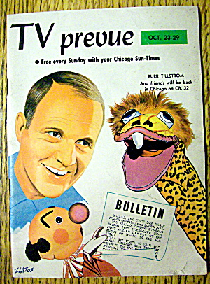 Tv Prevue-october 23-29, 1966-burr Tillstrom