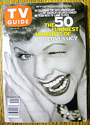 Tv Guide-october 13-19, 2001-i Love Lucy (Lucille Ball)