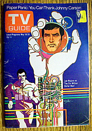 Tv Guide-may 18-24, 1974-lee Majors (Six Million Man)