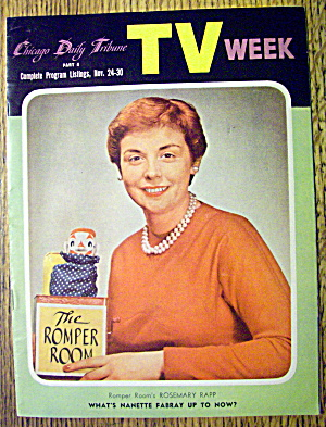 Tv Week-november 30, 1956-romper Room