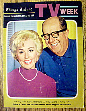 Tv Week-february 22-28,1964-phil Silver