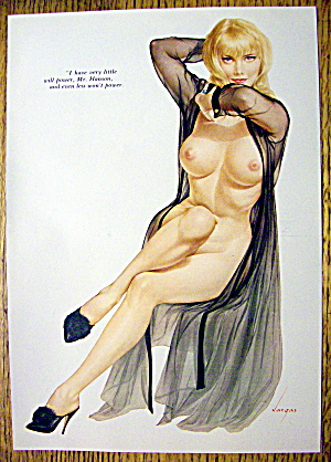 Alberto Vargas Pin Up Girl-july 1967-lovely Blonde