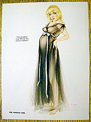 Alberto Vargas Pin Up Girl-december 1976-pregnant Woman