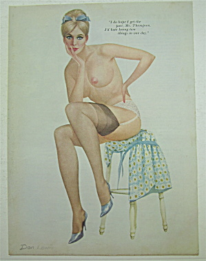 Don Lewis Pin Up Girl-February 1968-Woman Sitting  (Image1)