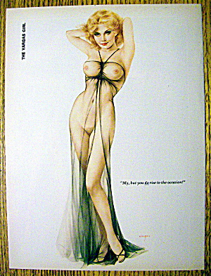 Alberto Vargas Pin Up Girl-april 1976-beautiful Blonde