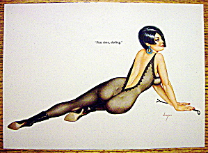 Alberto Vargas Pin Up Girl-February 1967-Post Time Girl (Image1)