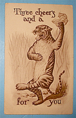 Dancing Tiger Postcard (Three Cheers)
