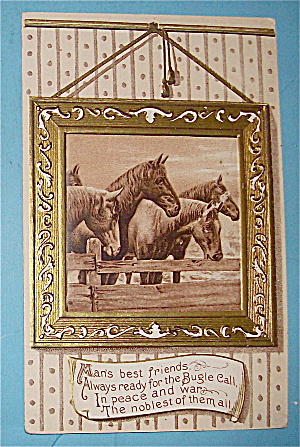 Picture Of Four Horses Postcard (Image1)