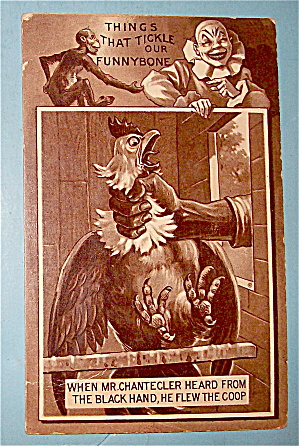 Choking the Rooster Postcard (Image1)