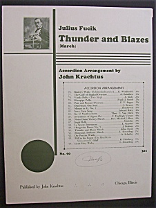 Sheet Music For 1935 Thunder And Blazes (March)