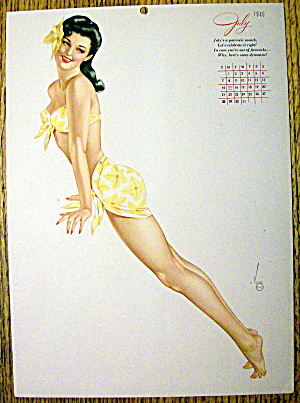 Alberto Vargas Pin Up Girl-July 1946-Calendar Esquire (Image1)