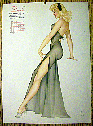 Alberto Vargas Pin Up-december 1946-calendar Esquire