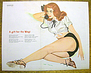 1950's Esquire Girl Pin Up By Al Moore-Gift For Magi (Image1)