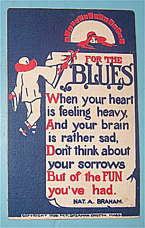 Clown & For The Blues Postcard