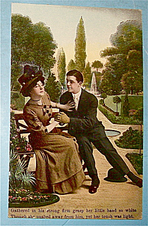 Back Off Young Love In The Park Postcard