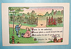 Young Planters Trust God Postcard