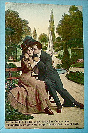Young Love In The Park Postcard