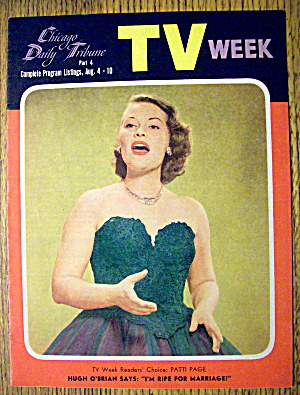 Tv Week-august 4-10,1956-patti Page