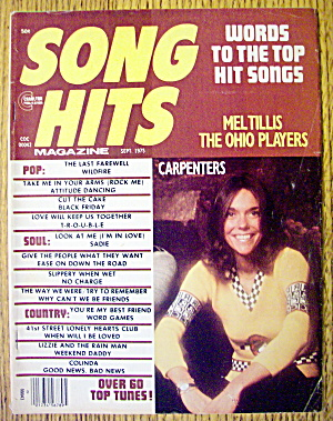 Song Hits September 1975 Karen Carpenter-the Carpenters