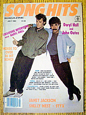 Song Hits July 1983 Daryl Hall & John Oates