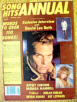 Song Hits Spring 1984 David Lee Roth