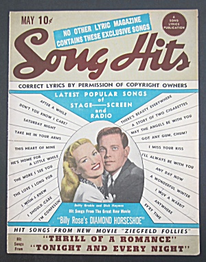Song Hits May 1945 Betty Grable & Dick Haymes