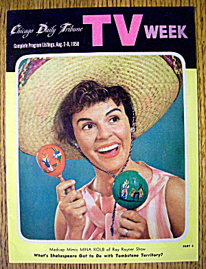Chicago Tv Week August 2-8, 1958 Mina Kolb