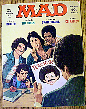 Mad Magazine #189 March 1977 Welcome Back Kotter