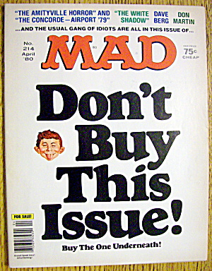Mad Magazine #214 April 1980 Don't Buy This Issue
