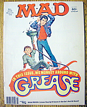 Mad Magazine #205 March 1979 Grease