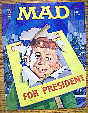 Mad Magazine #185 September 1976 For President