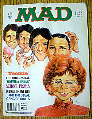 Mad Magazine #240 July 1983 Tootsie